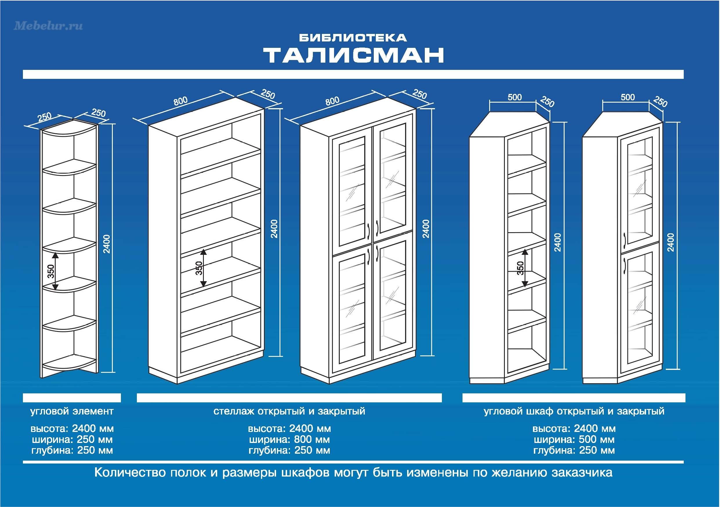 Талисман - книжный шкаф модульный - мечта-мебель.ру.