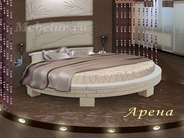Круглую кровать с матрасом