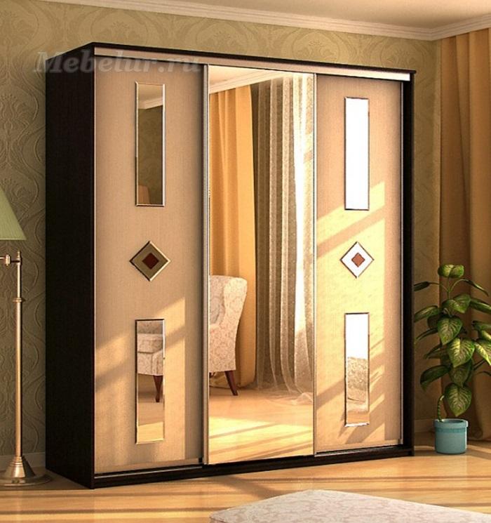 купить альянс 3 люкс шкаф купе трехдверный с зеркалом
